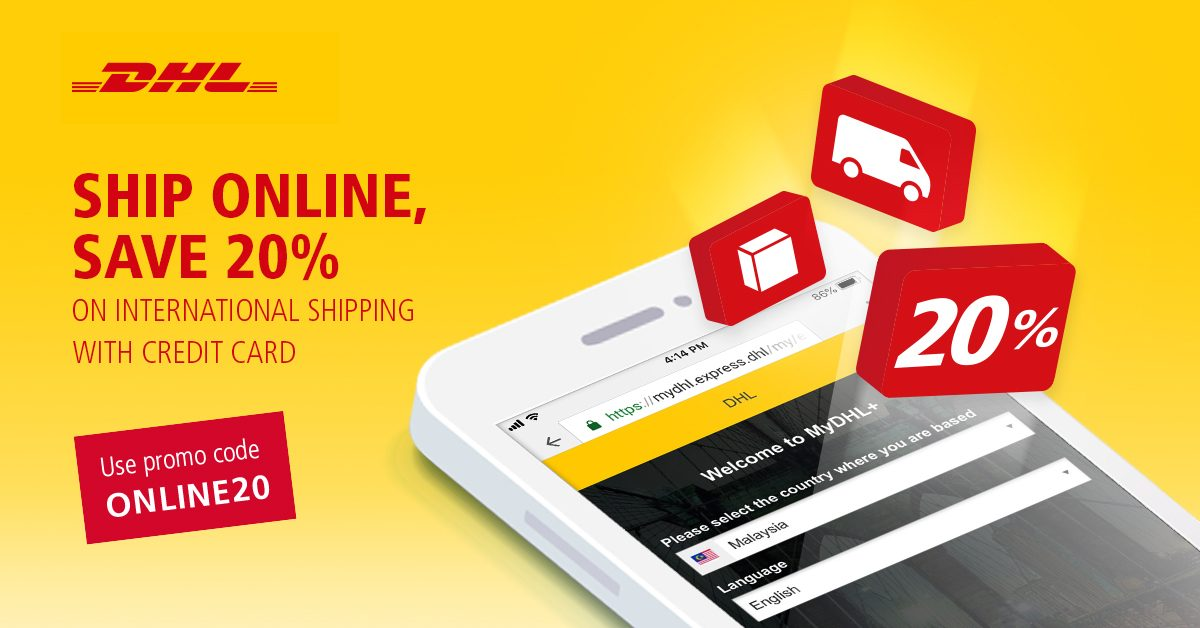 Ship Online, Save 20% with DHL